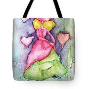 Lady In Love Tote Bag