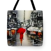 Lady In Paris Tote Bag