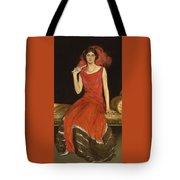 Lady In Red - Mrs Owen Barton Jones Tote Bag