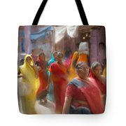 Lady In Summer Yellow Tote Bag