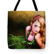 Lady In The Ferns Tote Bag