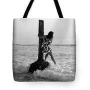 Lady In The Surf Tote Bag