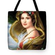 Lady In Veil Tote Bag