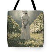 Lady In Vineyard Tote Bag