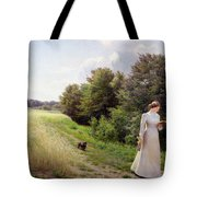 Lady In White Reading  Tote Bag