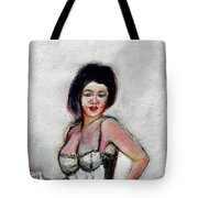 Lady Jane With Red Lipstick Tote Bag