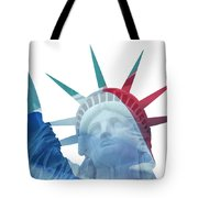 Lady Liberty With French Flag Tote Bag