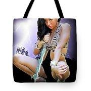 Lady Lightning  Tote Bag