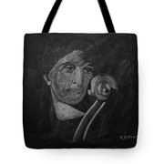 Lady Look At Cello Scroll Tote Bag