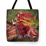 Lady Lunete Tote Bag by Melissa A Benson