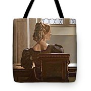 Lady Near The Window Tote Bag