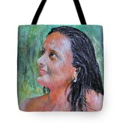 Lady Of India Tote Bag
