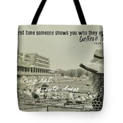 Lady Of The Derby Quote Tote Bag