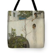Lady On A Balcony, Capri Tote Bag