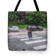 Lady On A Crossing Tote Bag