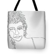 Lady On A Line Tote Bag
