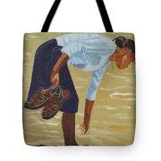 Lady On The Seashore Tote Bag