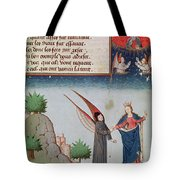 Lady Philosophy Leads Boethius In Flight Into The Sky On The Wings That She Has Given Him Tote Bag