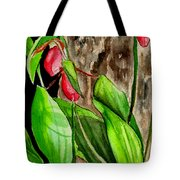 Lady Slippers Tote Bag