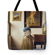 Lady Standing At The Virginal Tote Bag