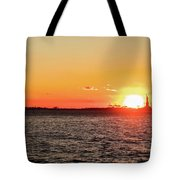 Lady Sunset Tote Bag