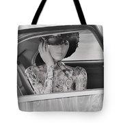 Lady Waiting Tote Bag