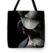 Lady With A Big Hat Tote Bag