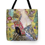 Lady With A Fan Tote Bag