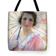Lady With A Parasol 1921 Tote Bag