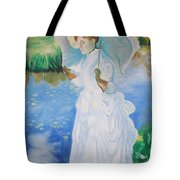 Lady With A Parasole  Tote Bag
