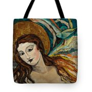 Lady With Bird Tote Bag