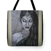 Lady With Bridal Jewelry Tote Bag