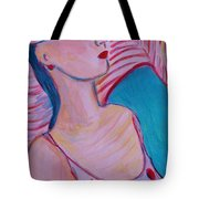 Lady With Hat Tote Bag