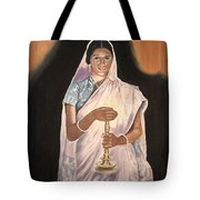Lady With Lamp Tote Bag
