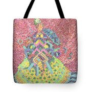 Lady With Parasol Tote Bag