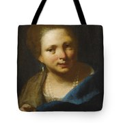 Lady With Pearls Tote Bag