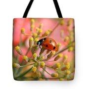 Ladybug On Fennel Tote Bag