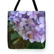 Ladybug On Hydrangea Tote Bag
