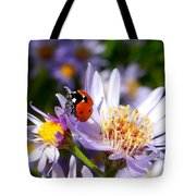 Ladybug Shows Her Heart Tote Bag