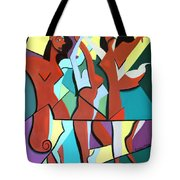 Ladys In Red Tote Bag