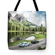 Laferrari And Gt3rs In The Dolomites Tote Bag