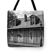 Lafittes Blacksmith Shop Bar In Black And White Tote Bag