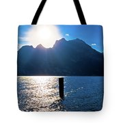 Lago Di Garda At Sunset View Tote Bag