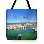 Lago Di Garda Harbor In Sirmione View Tote Bag