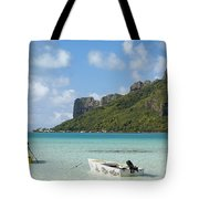Lagoon At Maupiti Tote Bag