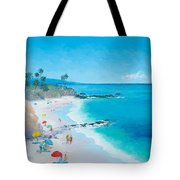 Laguna Beach Umbrellas Tote Bag
