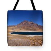 Laguna Miniques And Miniques Volcano Chile Tote Bag