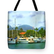 Lahina Harbor Tote Bag