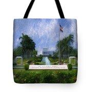 Laie Hawaii Temple Tote Bag