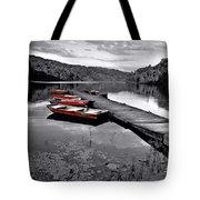 Lake And Boats Tote Bag